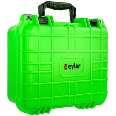 """""""Eylar Compact 13.37in Protective Gear Case Waterproof & Shock Proof w/ Foam By Neon Green"""""""