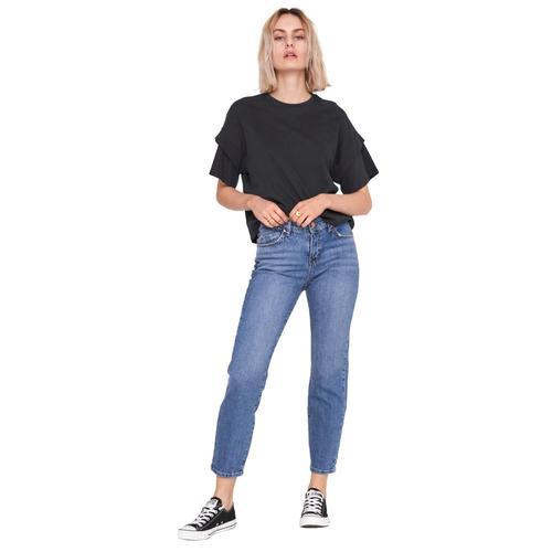 Noisy May Olivia Slim Straight Jeans Damen-Jeans - blau