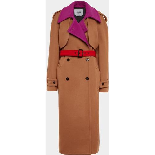 MSGM Moderner Trenchcoat aus Wolle