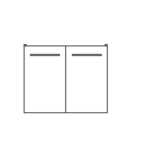 Waschtischunterschrank 9005-WU2T-K55, B:530, H:488, T:440mm 9005-WU2T-K55