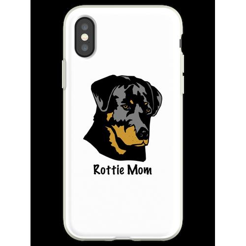 Rottweiler Mom - Rottweiler Geschenk - Rottweiler Shirt - Rottweiler Ge Flexible Hülle für iPhone XS