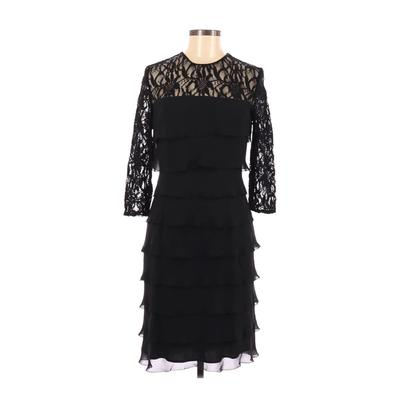 Alex Evenings Cocktail Dress - A-Line: Black Solid Dresses - Used - Size 6