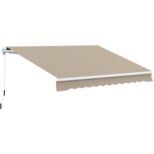 Outsunny® Alu Gelenkarm-Markise 4m x 3m Sonnenschutz beige - beige