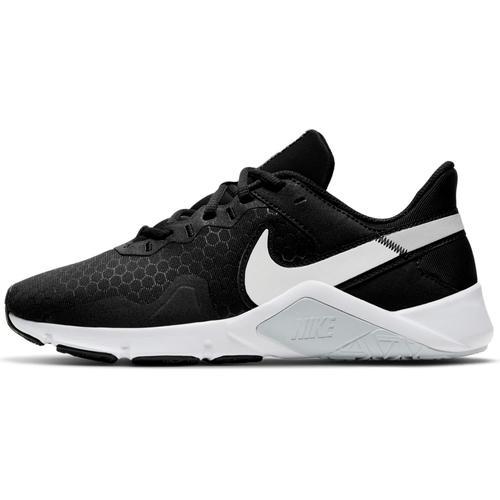 Nike Legend Essential 2 Fitnessschuhe Damen in black-white-pure platinum, Größe 37 1/2