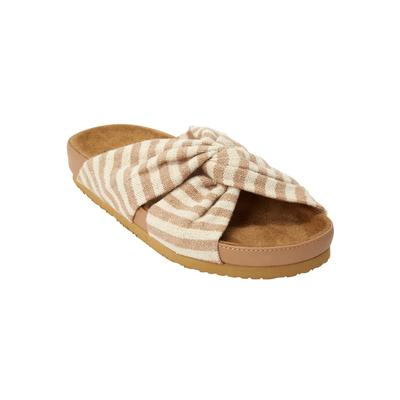 Women's The Reese Footbed Sandal by Comfortview in Khaki (Size 9 1/2 M)