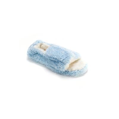 Women's Micro Terry Open-Toe Full Foot Slipper by MUK LUKS in Blue (Size MEDIUM)