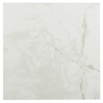 """Sterling 12"""" x 12"""" Self Adhesive Vinyl Floor Tile by Achim Home Dcor in Classic White"""