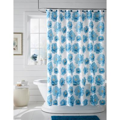 BH Studio Bella 13-Pc. Shower Curtain Set by BrylaneHome in Peacock