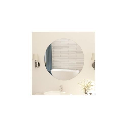 vidaXL Rahmenloser Spiegel Rund 80 cm Glas