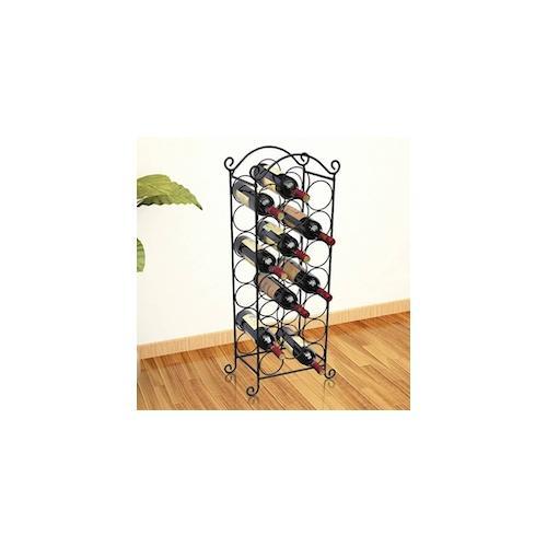 vidaXL Flaschenregal für 21 Flaschen Metall