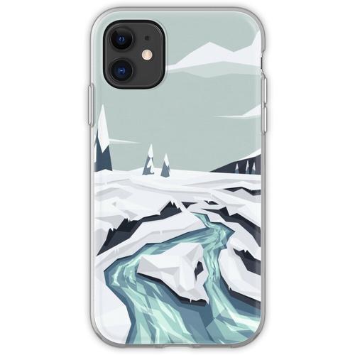Fließender Winterbach Flexible Hülle für iPhone 11