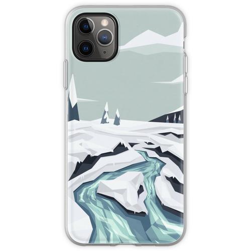 Fließender Winterbach Flexible Hülle für iPhone 11 Pro Max