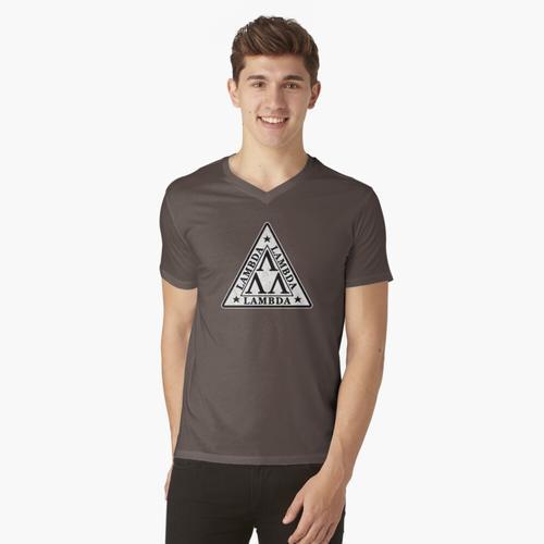 Lambda, Lambda, Lambda t-shirt:vneck