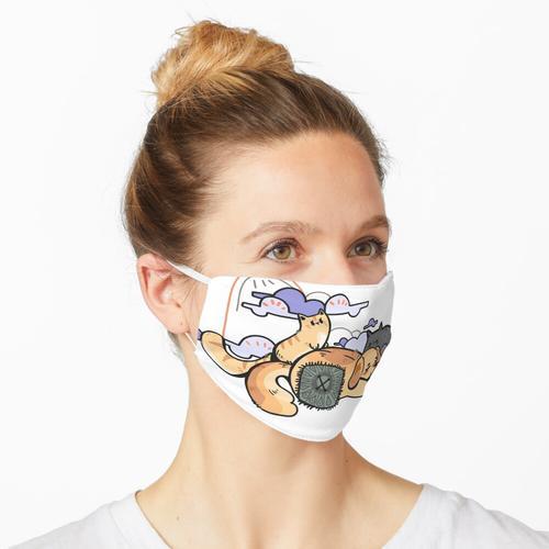 Flauschiger Tag Maske