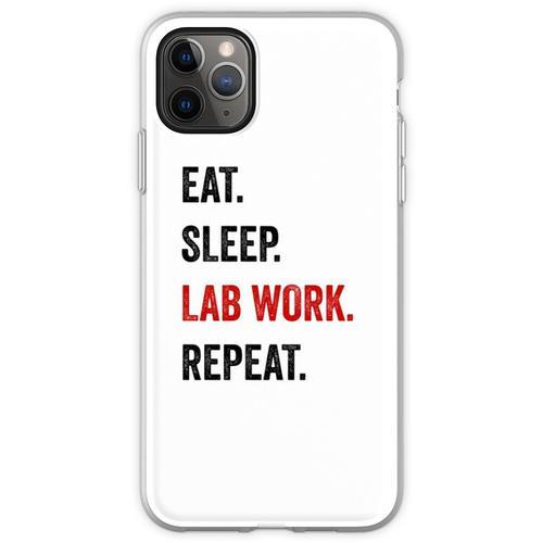 Essen Sie Schlaflaborarbeit Wiederholen Sie Labortechniker lust Flexible Hülle für iPhone 11 Pro Max