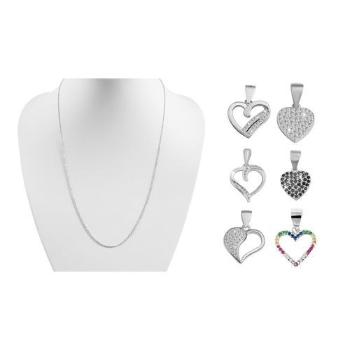 Anhänger in Herzform / Silber / Modell 4
