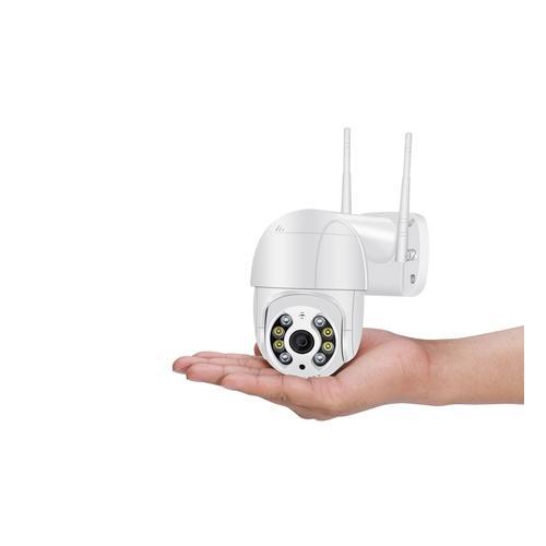 3 MP Überwachungskamera: 2 / weiß / ohne SD-Karte