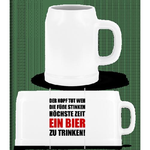 Kopf Tut Weh Bier Trinken - Bierkrug