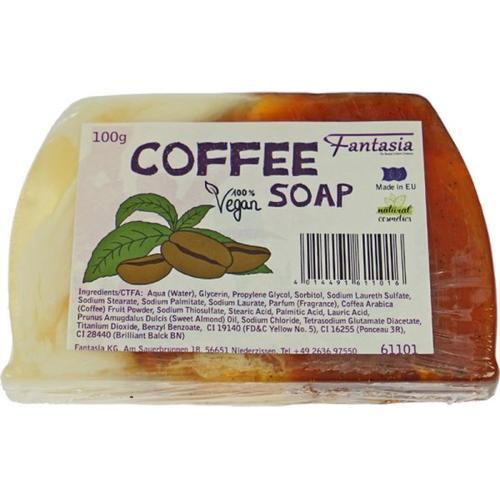 Fantasia Handgearbeitete Seifen 100% Vegan 100 g Coffee Stückseife