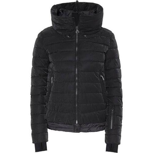 CHIEMSEE Jacke mit versteckter Kapuze im Kragen, Größe XS in Deep Black
