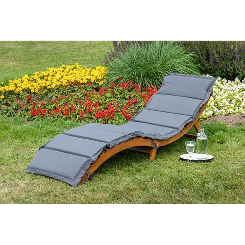 MERXX Gartenliege Honopu, mit Auflagen, klappbar braun Gartenliegen Garten, Terrasse Balkon