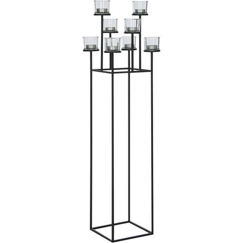 BLOMUS Kerzenständer NERO, 8-flammig schwarz Kerzenhalter Kerzen Laternen Wohnaccessoires