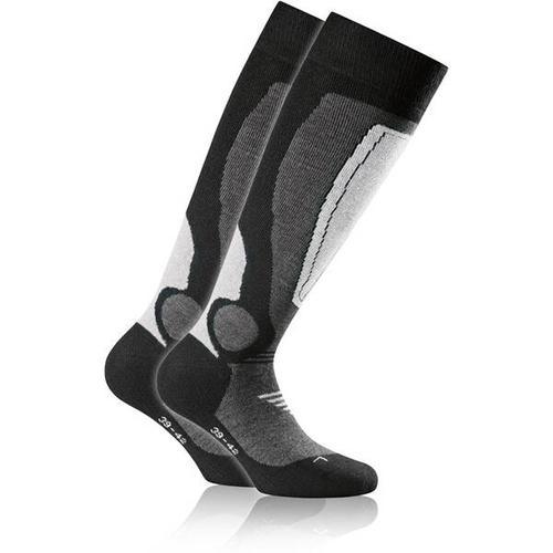 ROHNER Socken rohner basic ski 2er pack, Größe 35-38 in hellgrau