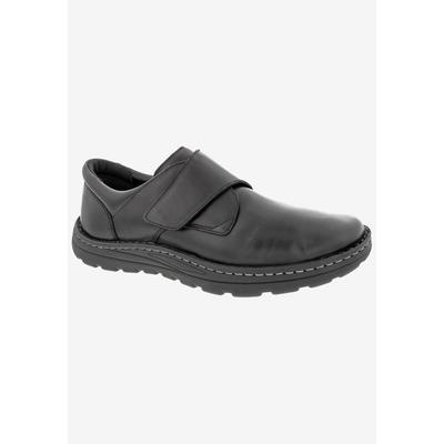 Men's WATSON Casual Shoes by Drew in Black Stretch Leather (Size 14 6E)