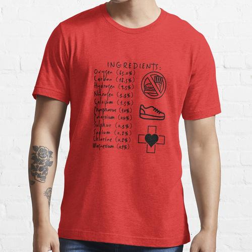 Menschliche Inhaltsstoffe Essential T-Shirt