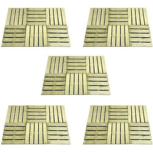 Terrassenfliesen 30 Stk. 50×50 cm Grün Holz
