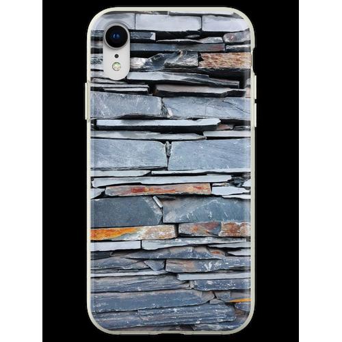 Steinplattenmauer Flexible Hülle für iPhone XR