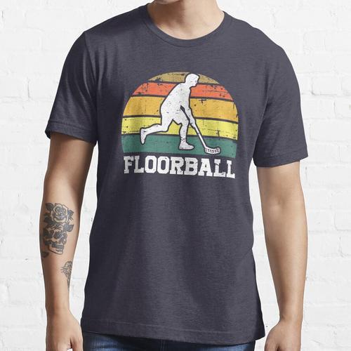 Floorball Retro Vintage Unihockey Floorballs Essential T-Shirt