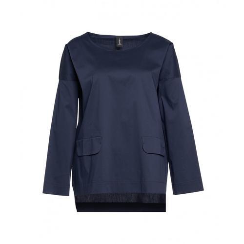 Icon Damen Bluse mit Patten Blau