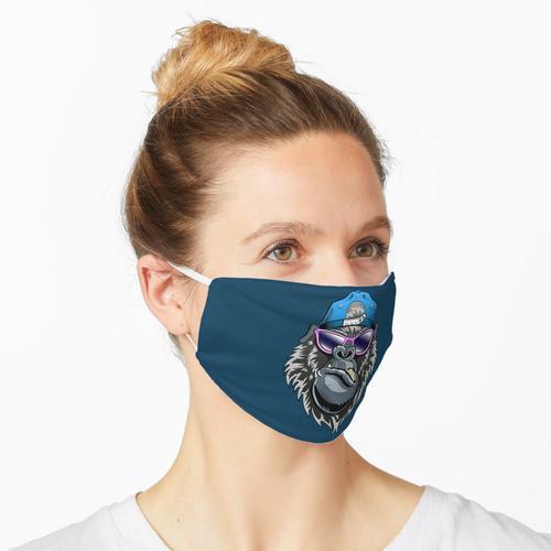 Gorilla oder Affe mit Baseball-Kappe und Sonnenbrille Maske