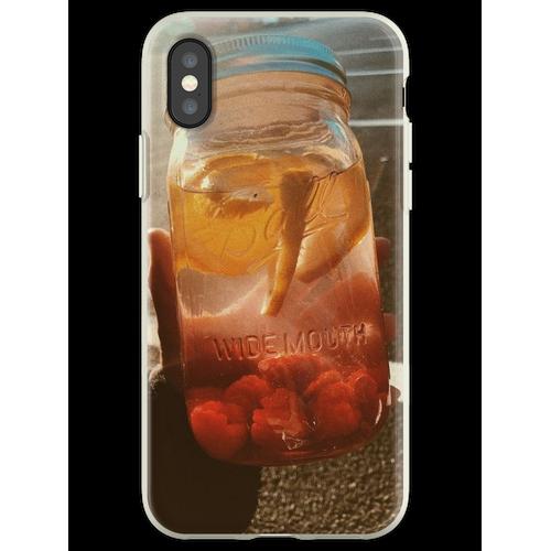 Orangenlimonade Flexible Hülle für iPhone XS