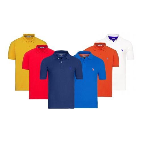 US Polo ASSN. Herren-Poloshirt: Indigoblau/ Gr. XXL