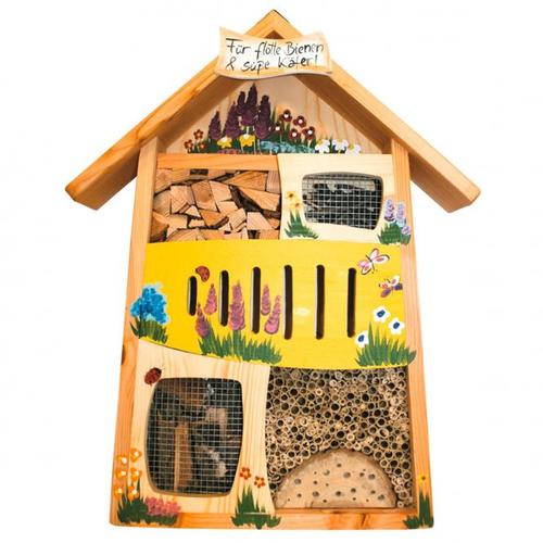 Insektenhotel Flotte Biene und Süßer Käfer