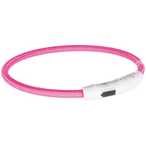 TRIXIE Hunde-Halsband USB Flash, Kunststoff-Nylon, in versch. Größen rosa Hundehalsbänder Hund Tierbedarf