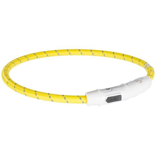 TRIXIE Hunde-Halsband USB Flash, Kunststoff-Nylon, in versch. Größen gelb Hundehalsbänder Hund Tierbedarf