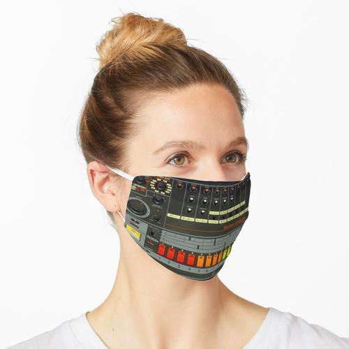 Roland 808 Acid Techno House Party Trommel Maschinentrommel Synth Box Maske
