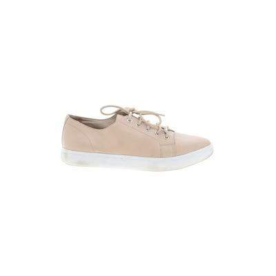 DKNY Sneakers: Tan Solid Shoes - Size 8 1/2