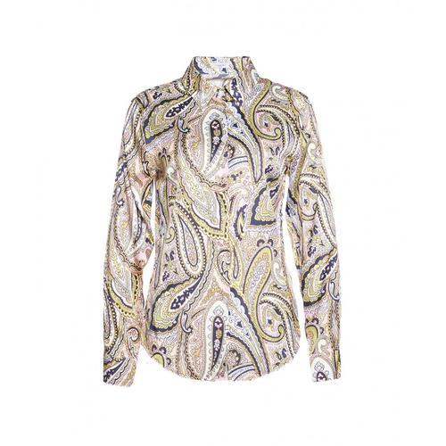 Himons Damen Bluse mit Paisley-Print Grün