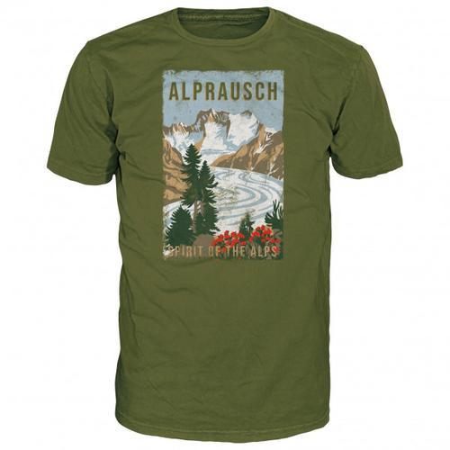 Alprausch - Gletschersicht T-Shirt Gr L;M;S;XL;XXL oliv
