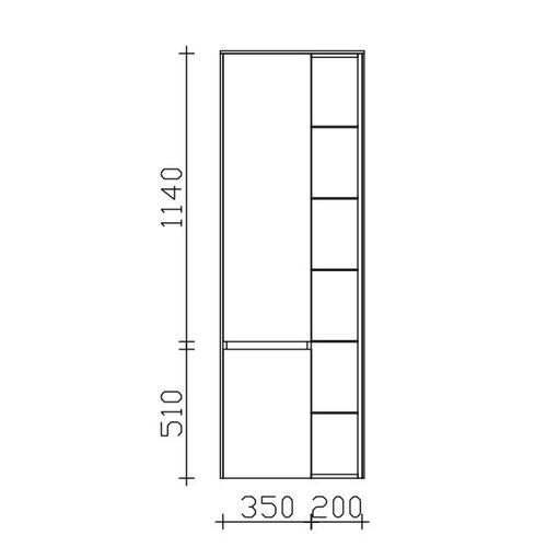 Hochschrank 6010-HSR01, B:570, H:1690, T:330mm 6010-HSR01