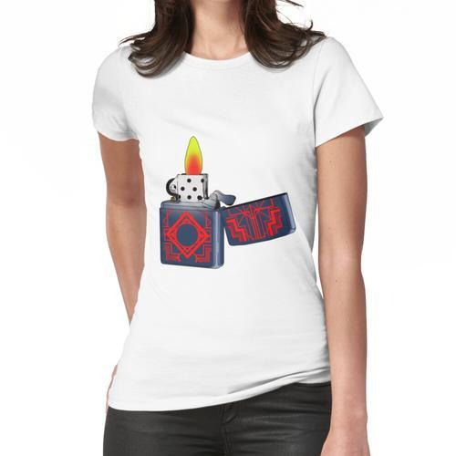 große Flamme vom Feuerzeug Geschenkidee für Feuerzeug Liebhaber Frauen T-Shirt