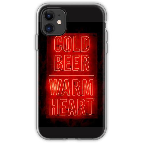 kaltes Bier warmes Herz Flexible Hülle für iPhone 11
