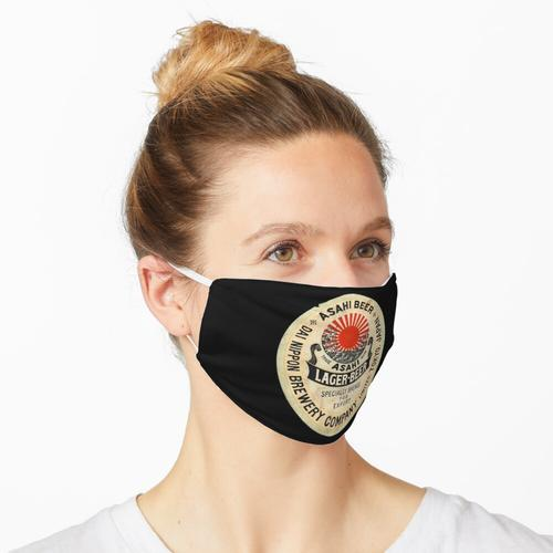 Asahi Bier Label Vintage Japan Maske