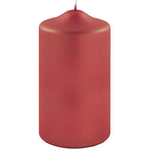 Fink Stumpenkerze, in Metallic-Optik, Höhe ca. 15 cm rot Kerzen Laternen Wohnaccessoires Stumpenkerze