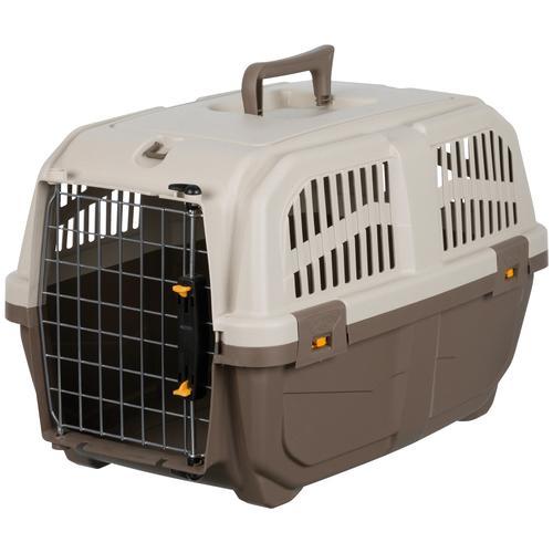 TRIXIE Tiertransportbox Skudo 2 XS–S, bis 18 kg, BxTxH: 35x55x36 cm beige Hundetransport Hund Tierbedarf