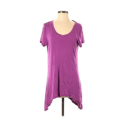 Workshop Republic Clothing - Workshop Republic Clothing Short Sleeve T-Shirt: Purple Solid Tops - Size Medium